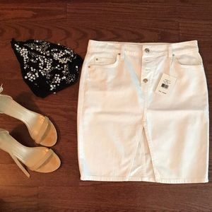 Joe's Jeans NWT White Denim Mini Skirt